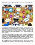 8 Ways to Properly Promote Your Business on Social Media PowerPoint PPT Presentation