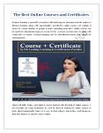 The Best Online Courses and Certificates PowerPoint PPT Presentation
