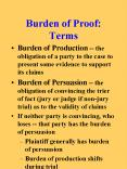 Burden of Proof: Terms PowerPoint PPT Presentation