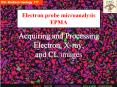 Acquiring and Processing Electron, Xray, and CL images PowerPoint PPT Presentation
