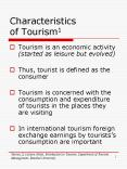 Characteristics of Tourism1 PowerPoint PPT Presentation