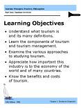 Understand what tourism is and its many definitions. PowerPoint PPT Presentation