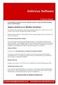 Antivirus Software PowerPoint PPT Presentation