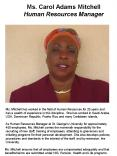Ms. Carol Adams Mitchell  Human Resources Manager PowerPoint PPT Presentation