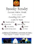 Spooky Sunday Sussex Main Street at the Gazebo Sunday Oct' 25 1 pm to 4pm PowerPoint PPT Presentation