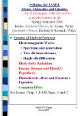 Quanta of Light (4 lectures) PowerPoint PPT Presentation