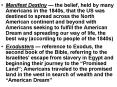 Manifest Destiny the belief, held by many Americans in the 1840s, that the US was destined to spread PowerPoint PPT Presentation