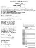 Elementary Qualifier Examination PowerPoint PPT Presentation
