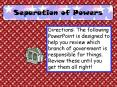 Separation of Powers PowerPoint PPT Presentation