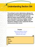 Understanding Section 504 PowerPoint PPT Presentation