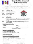 Gray Griffin Memorial Golf Tournament Sponsored by: North Mecklenburg High School Soccer PowerPoint PPT Presentation
