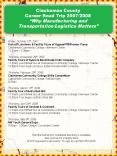 Clackamas County Career Road Trip 20072008 Why Manufacturing and TransportationLogistics Matters PowerPoint PPT Presentation