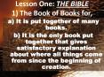 Lesson One: THE BIBLE 1 The Book of Books for, PowerPoint PPT Presentation