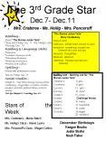 The 3rd Grade Star Dec'7 Dec'11 Mrs' Crabtree Ms' Heilig Mrs' Ponceroff PowerPoint PPT Presentation