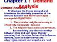 Chapter 1 : Demand Analysis PowerPoint PPT Presentation