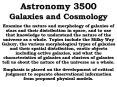 Astronomy 3500 Galaxies and Cosmology PowerPoint PPT Presentation
