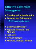 Effective Classroom Management PowerPoint PPT Presentation
