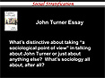 John Turner Essay PowerPoint PPT Presentation