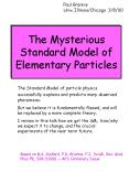 The Mysterious Standard Model of Elementary Particles PowerPoint PPT Presentation