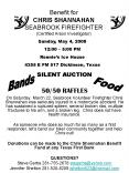 Benefit for CHRIS SHANNAHAN SEABROOK FIREFIGHTER Certified Arson Investigator PowerPoint PPT Presentation
