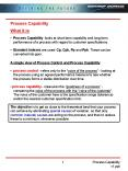 Process Capability PowerPoint PPT Presentation