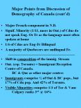 Major Points from Discussion of Demography of Canada (cont PowerPoint PPT Presentation