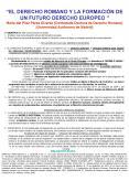 EL DERECHO ROMANO Y LA FORMACIN DE UN FUTURO DERECHO EUROPEO Mara del Pilar Prez lvarez Contratada D PowerPoint PPT Presentation
