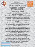 1' Respetar la identidad mujer u hombre de las personas transgenero' 3' Aceptar su imagen o su forma PowerPoint PPT Presentation
