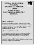 MEDIDAS DE SEGURIDAD PERSONAL' QUE DEBE DE TOMAR EN CUENTA UNA PERSONA CONVENCIONAL COMO T O COMO YO PowerPoint PPT Presentation