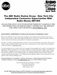 The ABC Radio Station Group - New York City                  Independent Contractor Opportunities With            Radio Disney AM1560 PowerPoint PPT Presentation