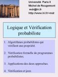 Logique et V PowerPoint PPT Presentation