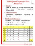 Statistique descriptives deux dimensions PowerPoint PPT Presentation