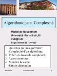 Algorithmique et Complexit PowerPoint PPT Presentation