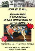 POUR SES 30 ANS : ALFA ORGANISE LE 6 FEVRIER 2008 UN GALA INTERNATIONAL DE LUTTE FEMININE PowerPoint PPT Presentation