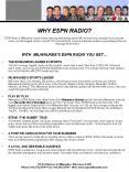 WHY ESPN RADIO PowerPoint PPT Presentation