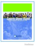 Sports Done Right PowerPoint PPT Presentation