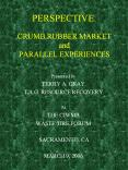 PERSPECTIVE: CRUMB RUBBER MARKET and PARALLEL EXPERIENCES PowerPoint PPT Presentation