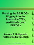 Pruning the SASLOG PowerPoint PPT Presentation