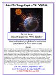 3-4 p.m., Friday, September 28th Joint Colloquium Biology/EES/Physics LOCATION: McLane 162 PowerPoint PPT Presentation