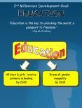 2nd Millennium Development Goal: EDUCATION PowerPoint PPT Presentation