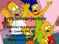 ArticleInterjection PowerPoint PPT Presentation