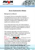 Avon Automotive News PowerPoint PPT Presentation