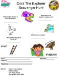 Dora The Explorer Scavenger Hunt PowerPoint PPT Presentation