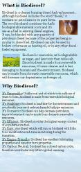 Biodiesel is renewable, as biodegradable as sugar, and less toxic than table salt. Since biodiesel is made from renewable resources, it burns cleaner and is less damaging to humans and the environment. Biodiesel can be made from domestic renewable PowerPoint PPT Presentation