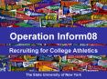 Recruiting for College Athletics PowerPoint PPT Presentation