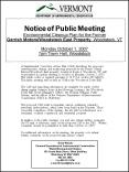 Notice of Public Meeting Environmental Cleanup Plan for the Former Gerrish MotorsWoodstock East Prop PowerPoint PPT Presentation