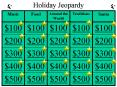 Holiday Jeopardy PowerPoint PPT Presentation