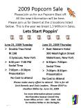 2009 Popcorn Sale Please join us for our Popcorn Blast off' All the new information will be here' Pl PowerPoint PPT Presentation