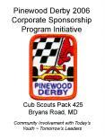 Pinewood Derby 2006 Corporate Sponsorship Program Initiative PowerPoint PPT Presentation
