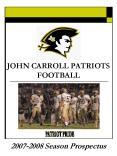 JOHN CARROLL PATRIOTS FOOTBALL PowerPoint PPT Presentation